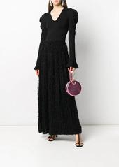 Pinko long-sleeve evening dress