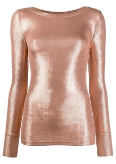 Pinko long sleeve metallic sheen top