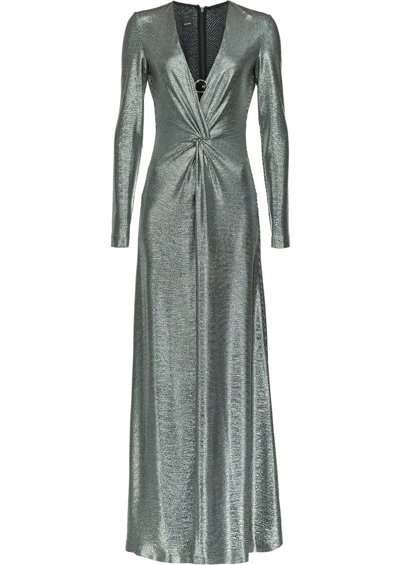 Pinko long V-neck dress