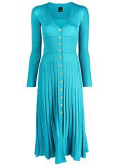 Pinko lurex knit mid-length dress
