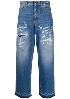 Pinko Madness distressed cropped jeans