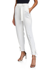 Pinko Marinaro Mid-Rise Belted Ankle Pants