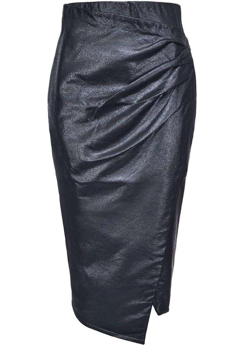 Pinko metallic coated skirt
