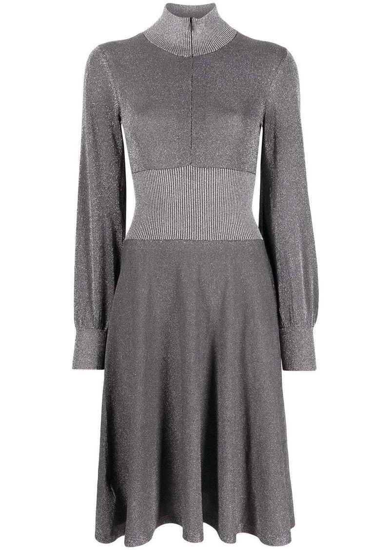 Pinko metallic knee-length dress