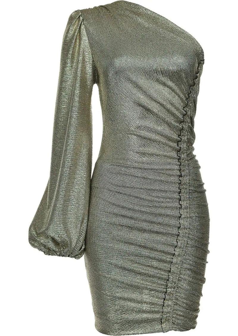 Pinko metallic one-shoulder dress