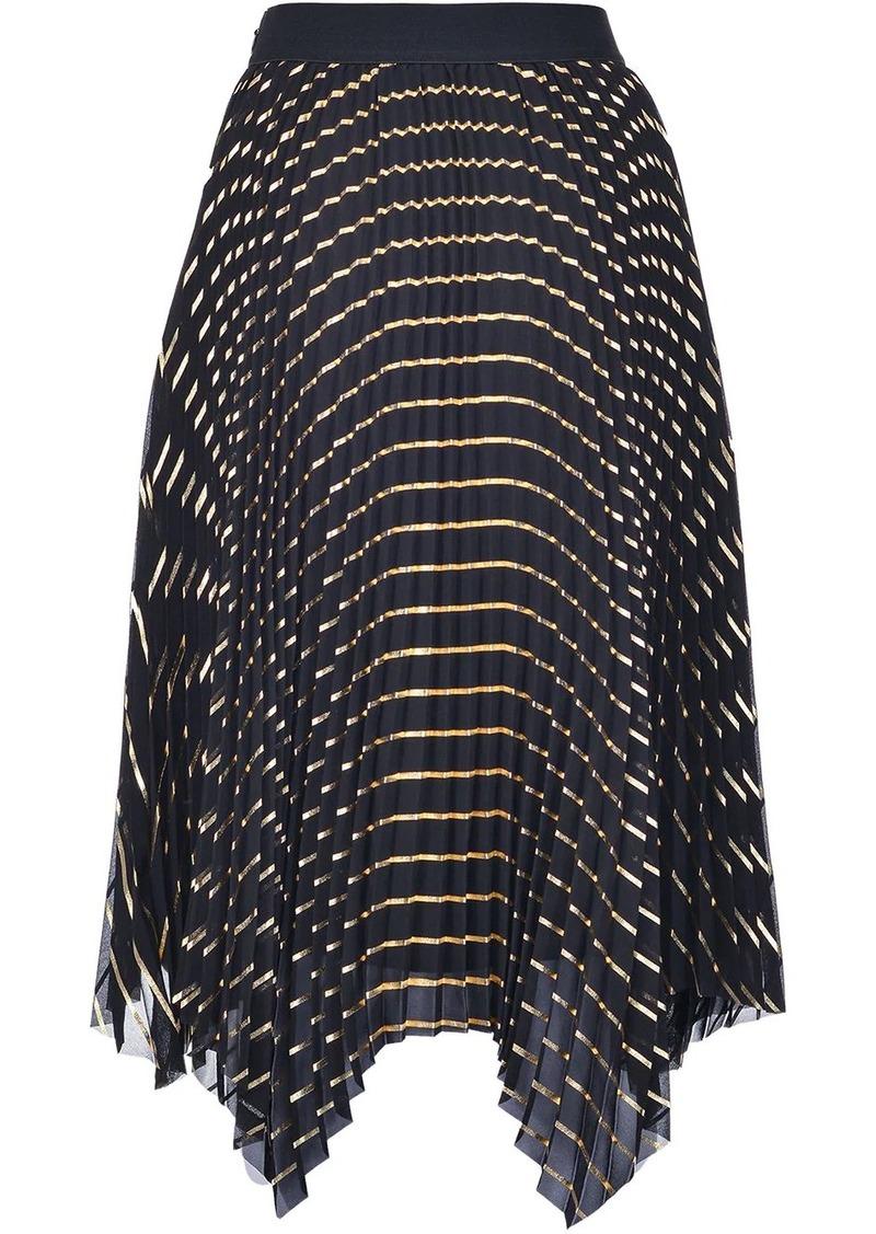 Pinko metallic pattern pleated skirt
