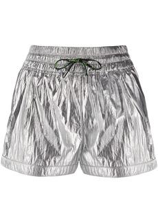Pinko metallic-print track shorts