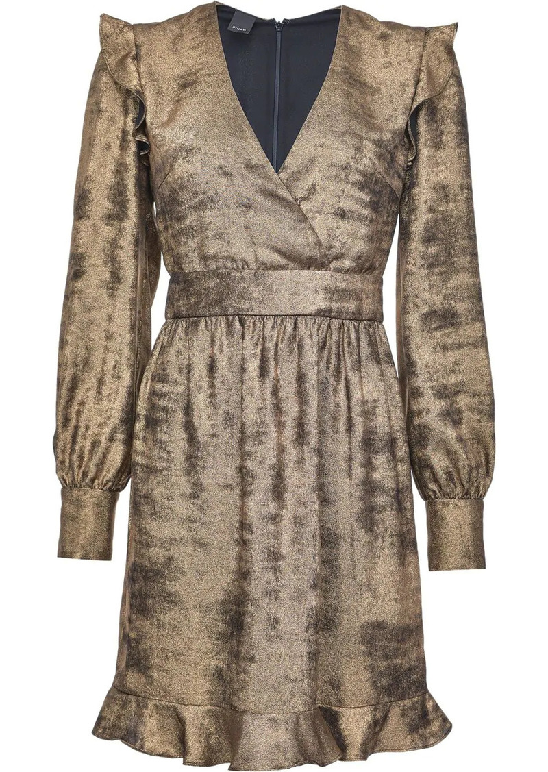 Pinko metallic sheen short dress