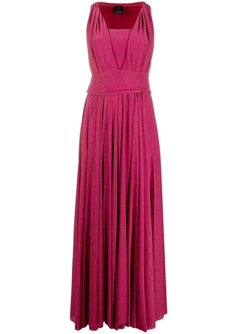 Pinko metallic-threading knitted dress