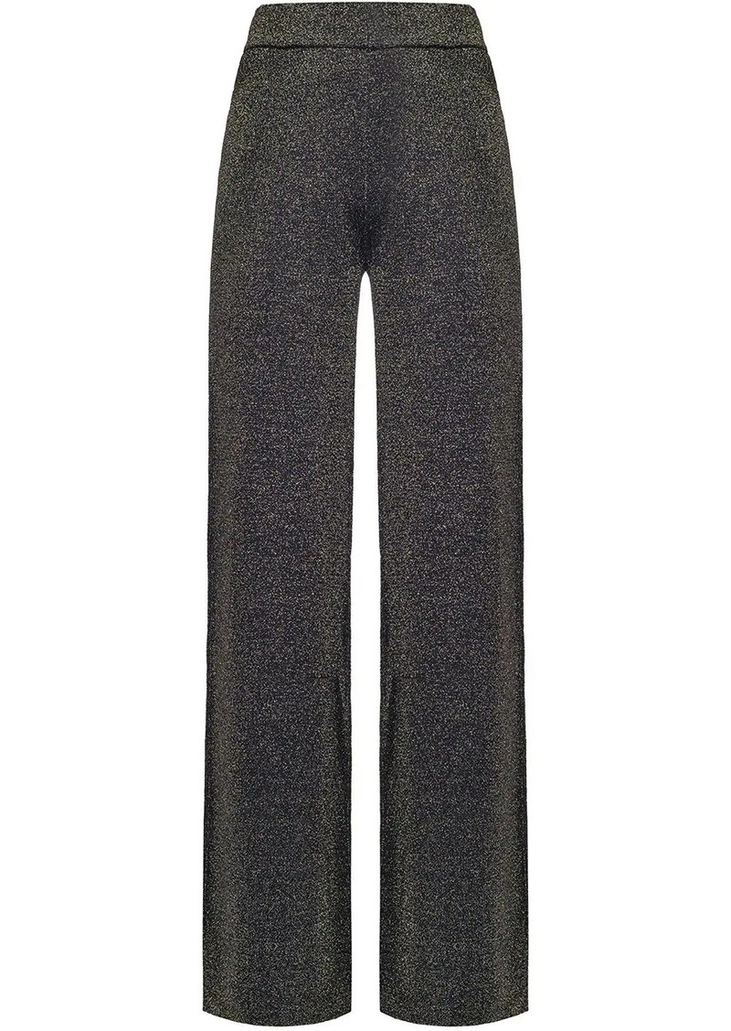 Pinko metallic threading straight-leg trousers