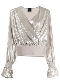 Pinko metallic wrap top