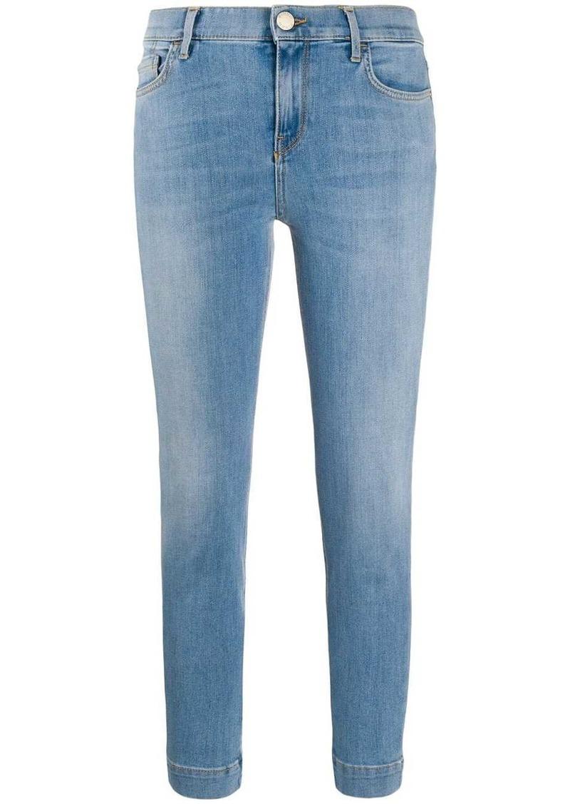 Pinko mid rise stonewashed skinny jeans