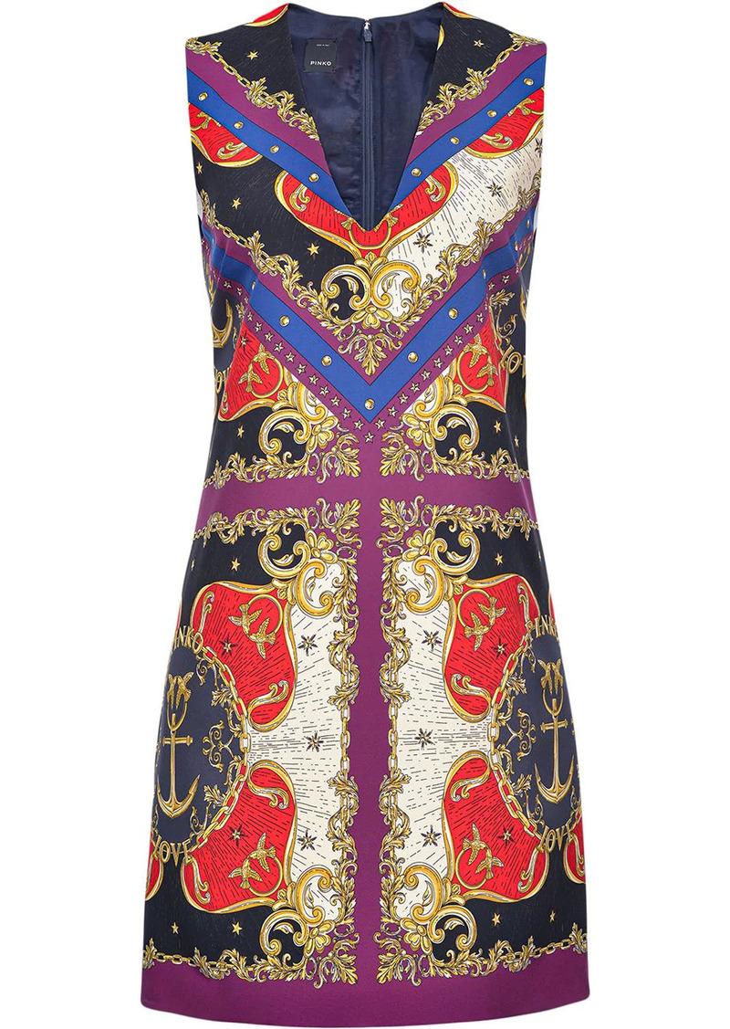 Pinko mix-print sleeveless dress