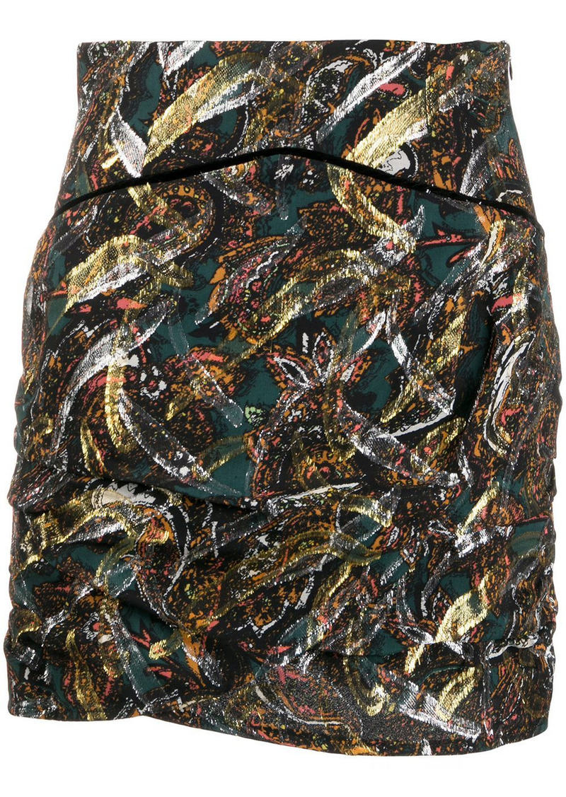 Pinko mixed-print mini skirt