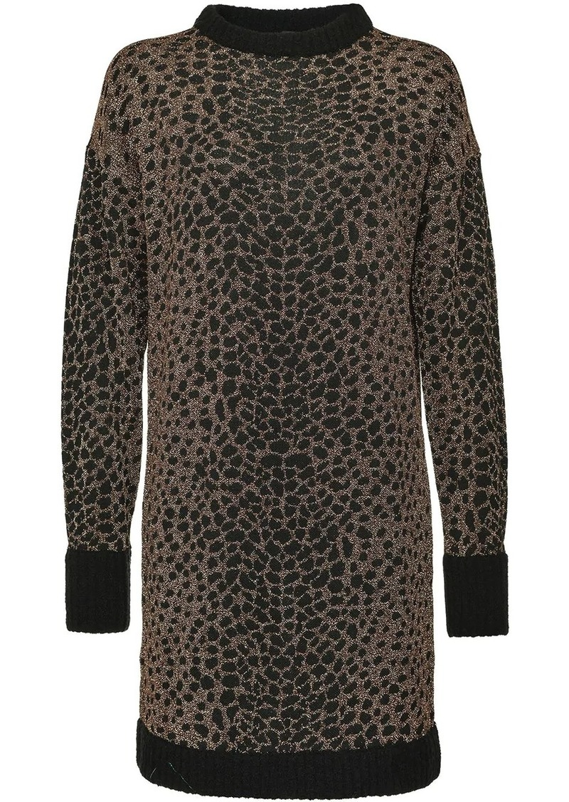 Pinko mosaic-pattern jumper dress