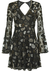 Pinko open-back sequinned dress