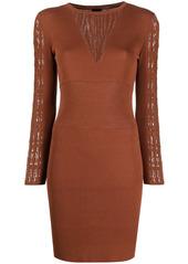 Pinko open-knit panelled dress