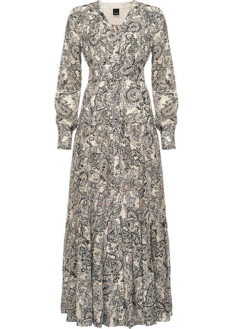 Pinko paisley print belted dress