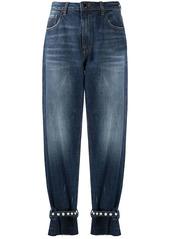 Pinko pearl-detail straight leg jeans