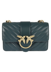 Pinko Bird Ring Chain Strap Quilted Shoulder Bag