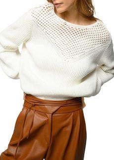 PINKO Circuito Mesh Yoke Sweater