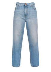 Pinko Flexi Maddie Mom Fit Faded Effect Jeans