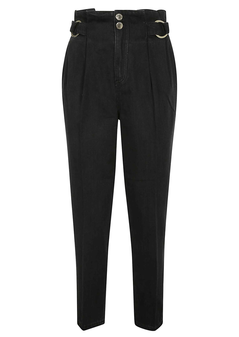 Pinko High Waist Belted Trousers