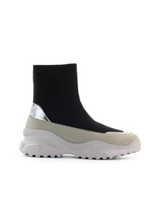 Pinko Love Trek Boot Black Silver Sneaker