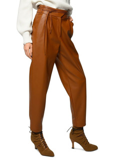 PINKO Rapito Faux Leather Trousers