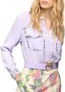 PINKO Rilassato Studded Shirt