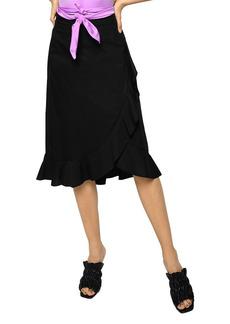 PINKO Scettico Ruffled Wrap Skirt