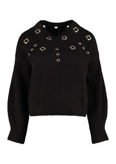 Pinko Tagikistan Long Sleeve Crew-neck Sweater