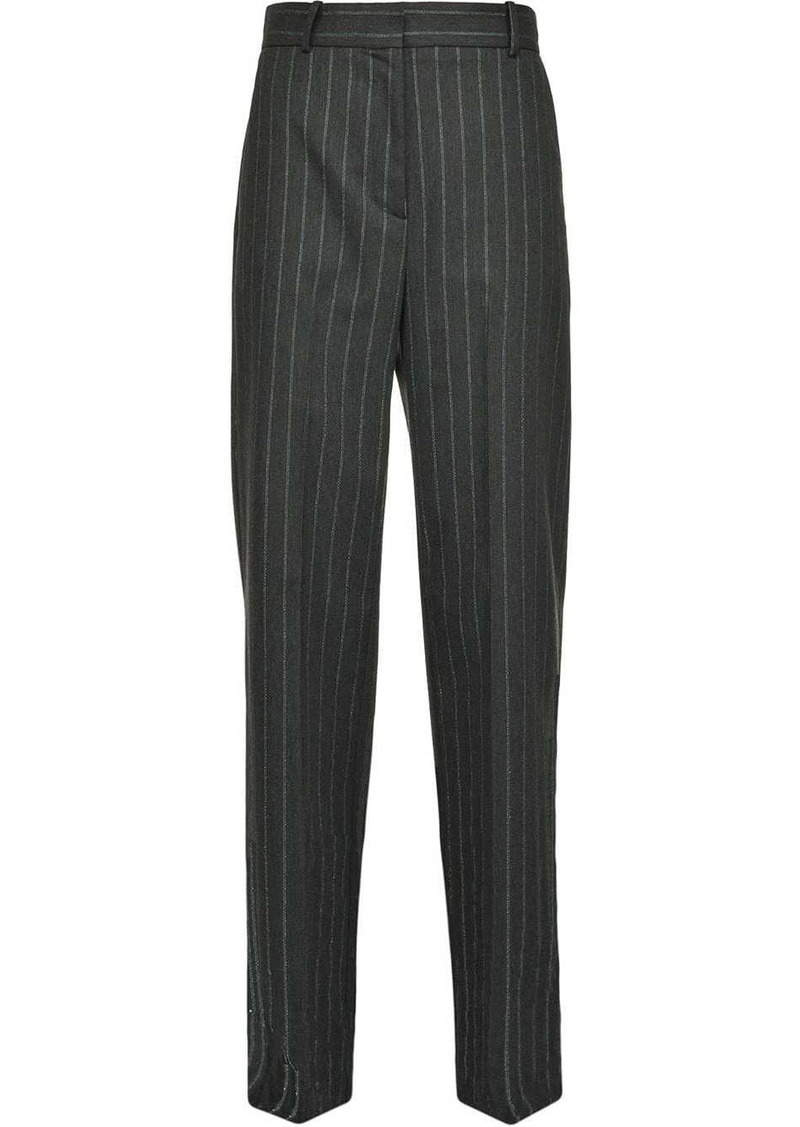 Pinko pinstriped tapered trousers
