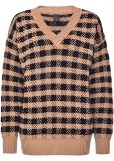 Pinko plaid knit jumper