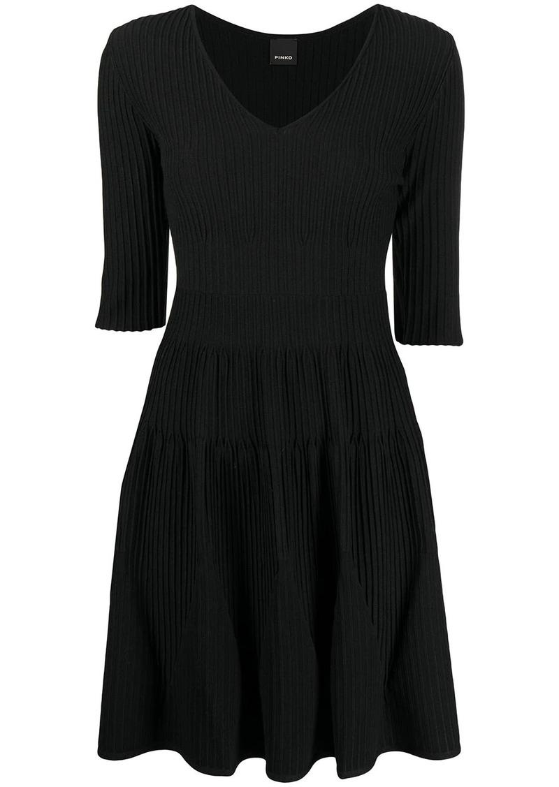 Pinko pleat-detail dress