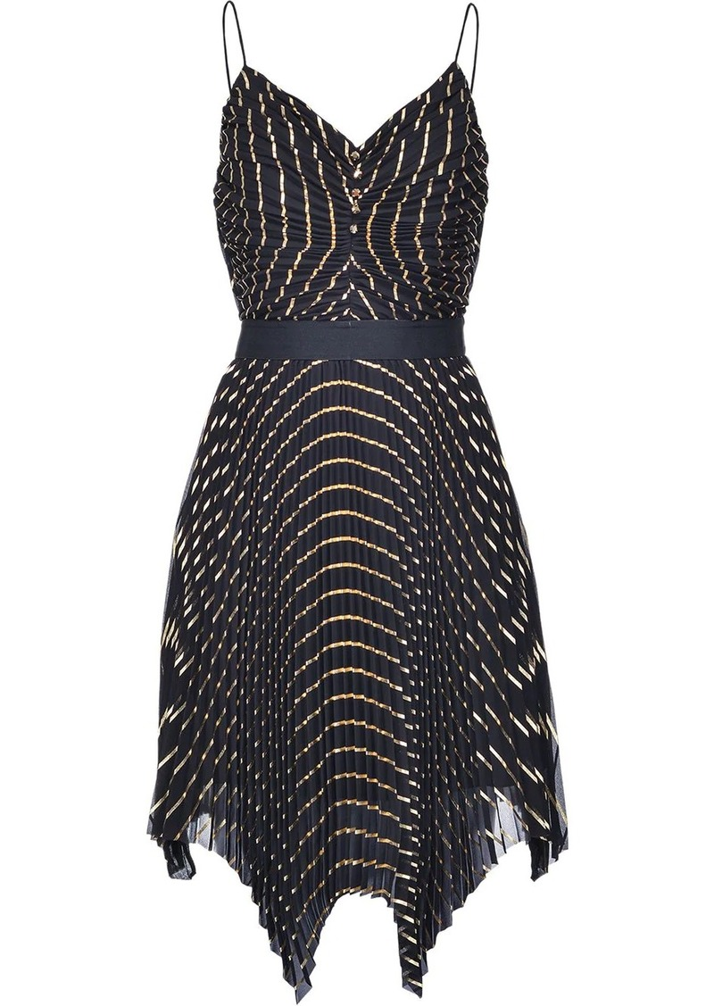 Pinko pleated asymmetric dress