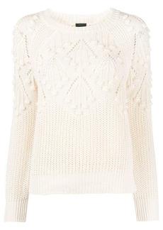 Pinko pointelle knitted jumper