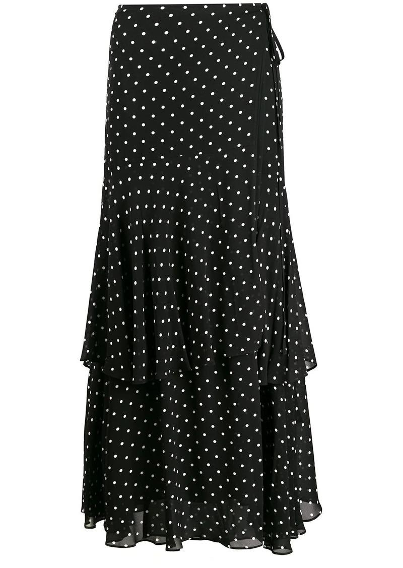 Pinko polka dot print ruffled skirt
