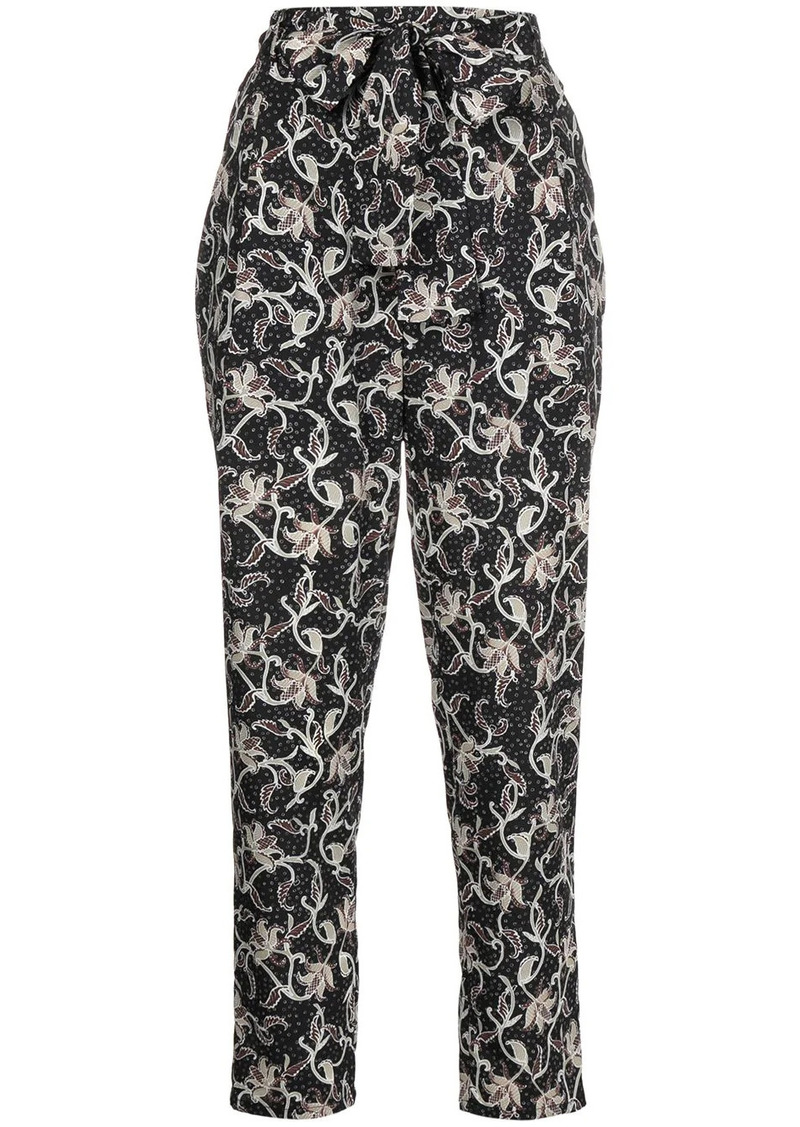 Pinko printed tapered trousers