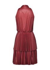Pinko pussy bow pleated dress