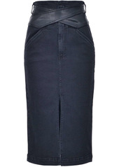 Pinko rear split pencil skirt