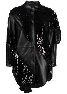 Pinko Reimagine sequin-embroidered shirt jacket