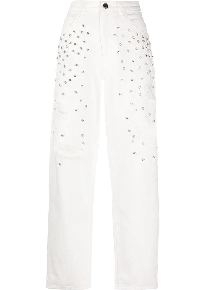 Pinko rhinestone-embellished jeans