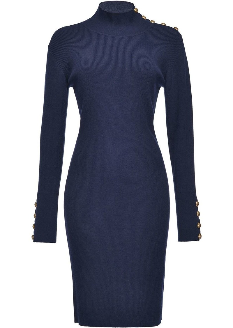 Pinko ribbed high neck dress