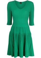 Pinko ribbed knit mini dress