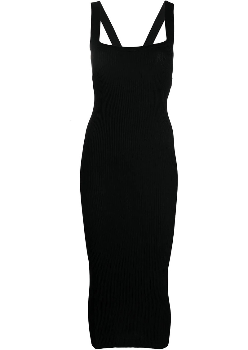 Pinko ribbed mid-length knit dress