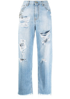 Pinko ripped straight-leg jeans