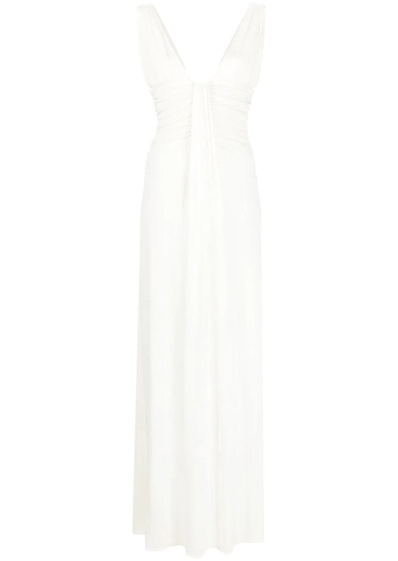 Pinko ruched long dress