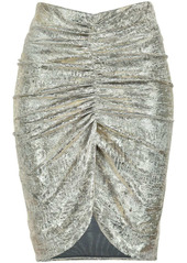 Pinko ruched metallic skirt