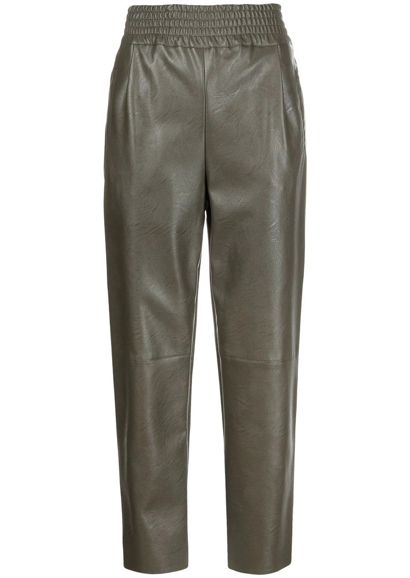Pinko Sammartini tapered faux-leather trousers